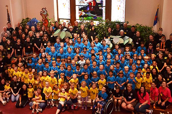 vacation bible school group photo